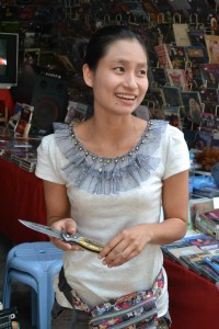 Burmese Knife Vendor