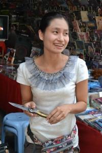 Burmese Knife Vendor