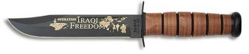 k-bar knife with Iraqi freedom written on it