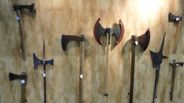Axes and polearms