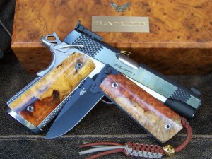 M1911 gun with knife with matching griop