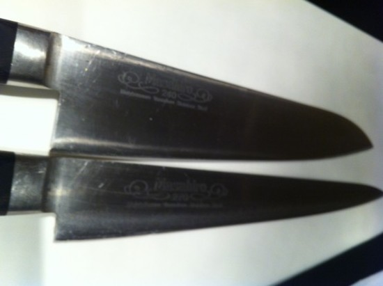 Chef Jason Wilson's knives