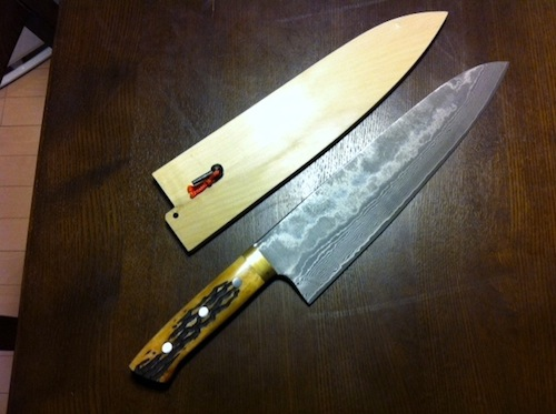 One of Hiroo Nagahara's many knives