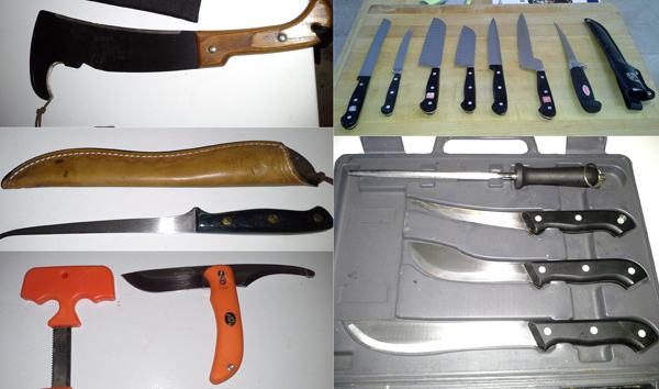 Jamie Carlson's knife collection