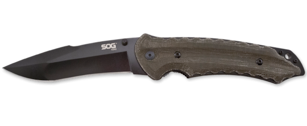 SOG Kukri Folding Knife Black TiNi