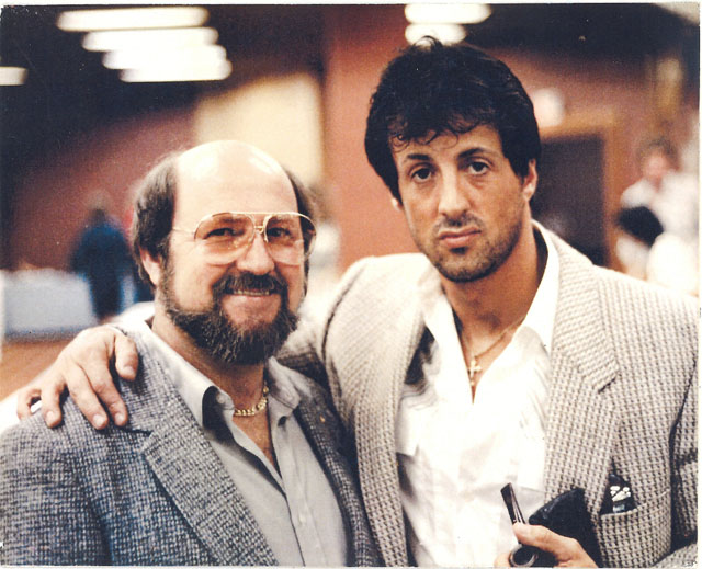 Stallone with Gil Hibben