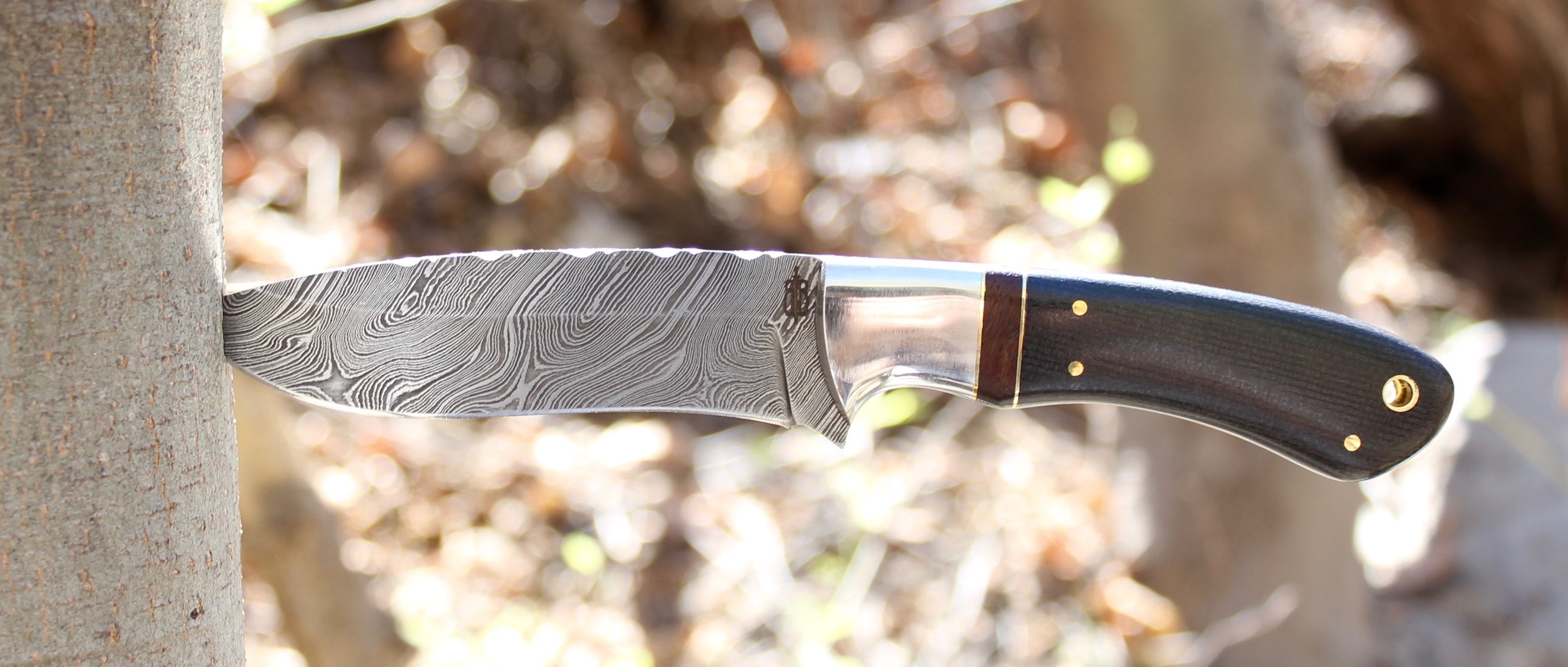 Buck n Bear Damascus Hunting Knife
