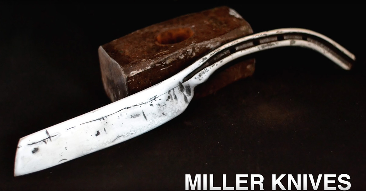 A knife, formerly a horse shoe, created by Miller Knives