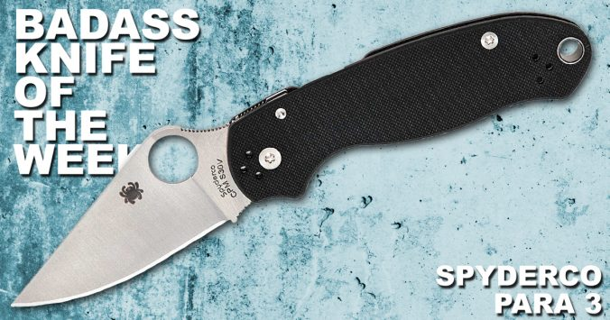 Spyderco Para 3 | Badass Knife of the Week | Knife Depot